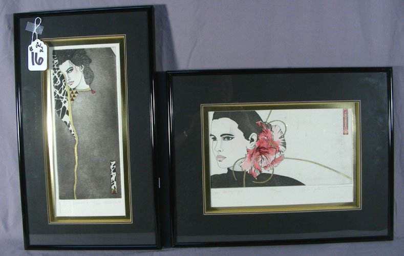 TWO DAWN MARIE ETCHINGS
