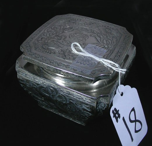 ANTIQUE GORHAM STERLING SILVER COVERED BOX