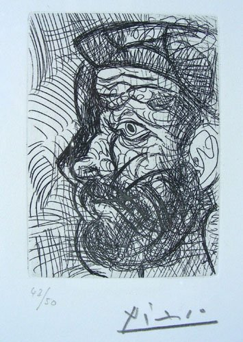 PABLO PICASSO (1881-1973) SPANISH - ORIGINAL ETCHING ON
