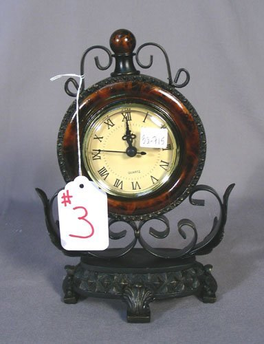 COMPOSITION AND METAL MANTLE CLOCK