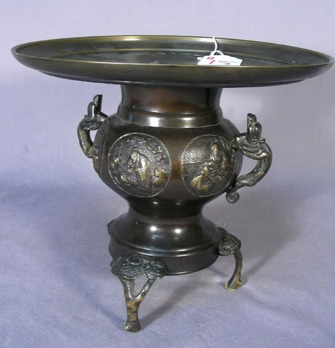 OLD CHINESE BRONZE TAZZA