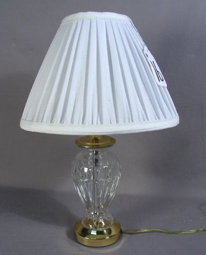 FINE WATERFORD CRYSTAL SMALL SCALE LAMP