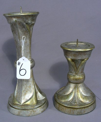 GRADUATED PAIR OF COMPOSITION CANDLE STICKS