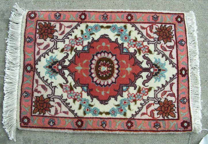 "Genuine Persian Tabriz ""phone mat"" rug"