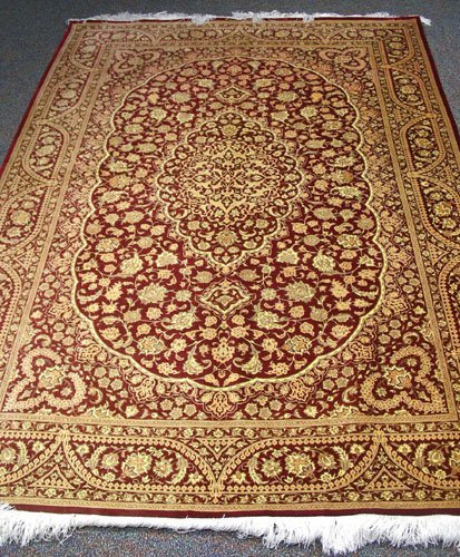 Very Fine Signed Persian Qum Area Rug