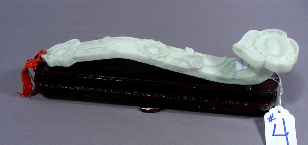 "CHINESE HAND CARVED SOAPSTONE ""AS YOU WISH"""