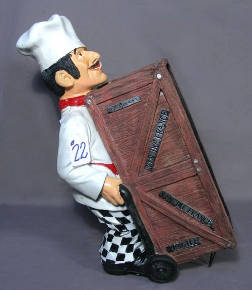 COMPOSITION CHEF HOLDING WINE RACK