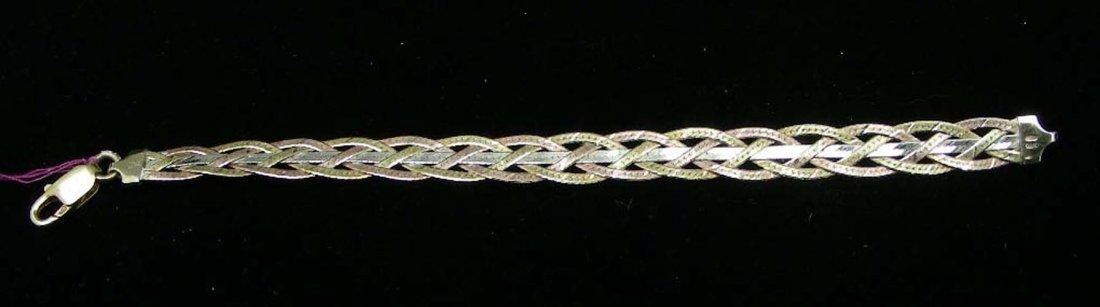 TRI-COLORED STERLING SILVER BRACELET