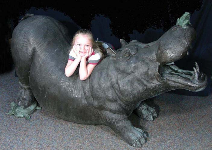 OUTSTANDING LIFE SIZE BRONZE SCULPTURE/FOUNTAIN OF