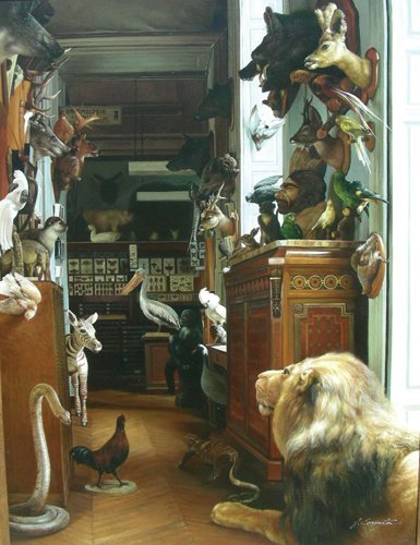 """OUTSTANDING OIL ON CANVAS """"HUNT ROOM"""""""