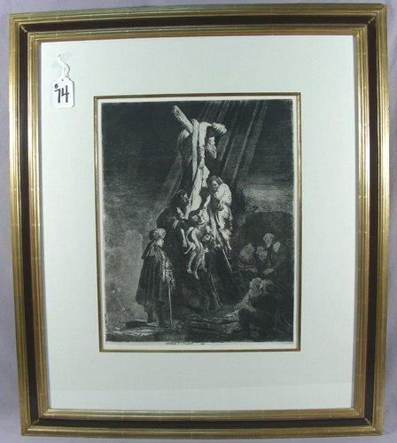 REMBRANDT VAN RIJN 1606-1669 DUTCH  ETCHING