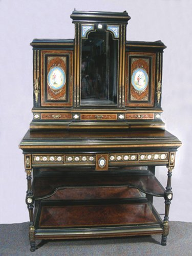 SPECTACULAR 19TH CENTURY SECRETARY WITH LIMOGES PLAQUES