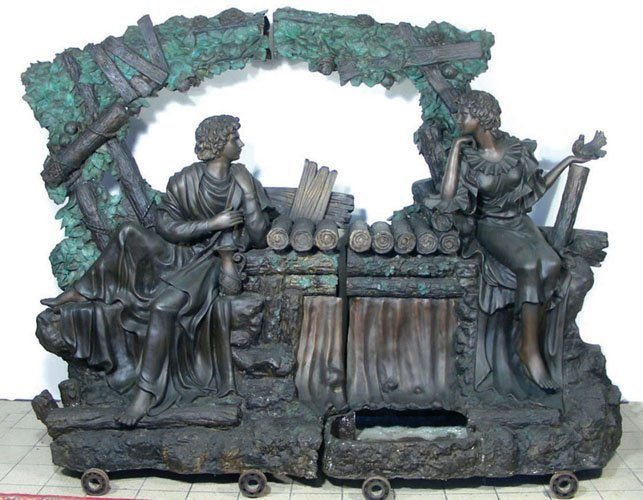OUTSTANDING TWO PIECE MONUMENTAL BRONZE