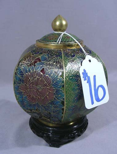 CHINESE PLIQUE A JOUR COVERED JAR