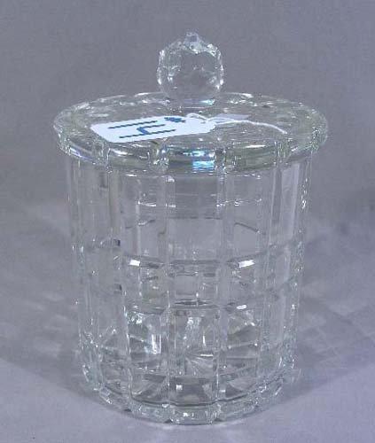 HEAVY CUT CRYSTAL BISCUIT JAR