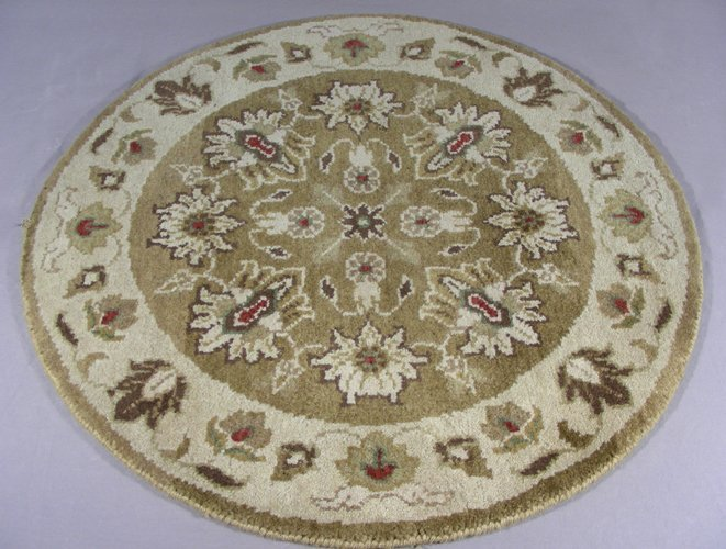 SMALL ROUND RAJASTHAN AREA RUG