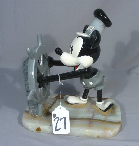 RON LEE DISNEY COLLECTION L STEAMBOAT WILLIE SCULPTURE