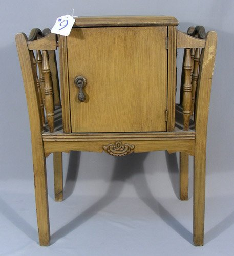 ANTIQUE WOODEN HUMIDOR TABLE