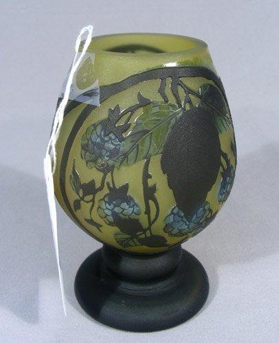 CAMEO GLASS ACID ETCHED VASE