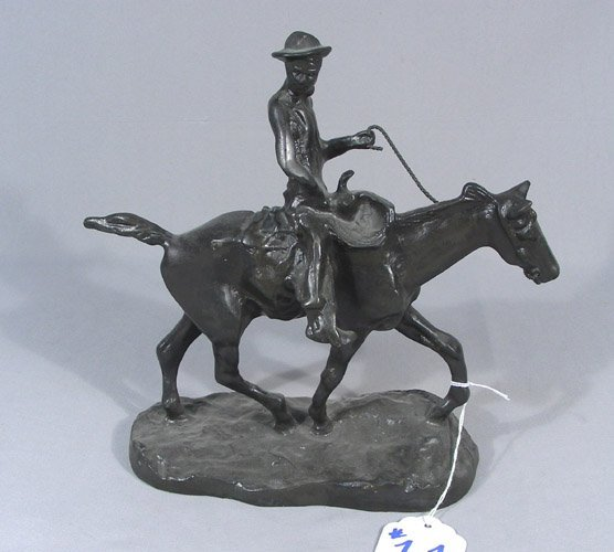 """AFTER CHARLES M. RUSSELL BRONZE SCULPTURE """"ROY ROGERS"""""""