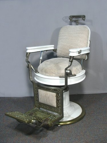 VINTAGE THEO A. KOCHS (CHICAGO) BARBER CHAIR