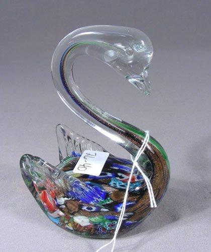 ART GLASS SWAN SCULPTURE