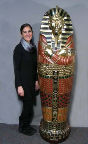 """Large Hand Painted Cabinet """"king Tut"""""""