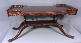 Antique Carved Coffee Table