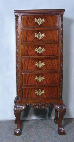 Chippendale Style Mohogany Six Drawer Chest