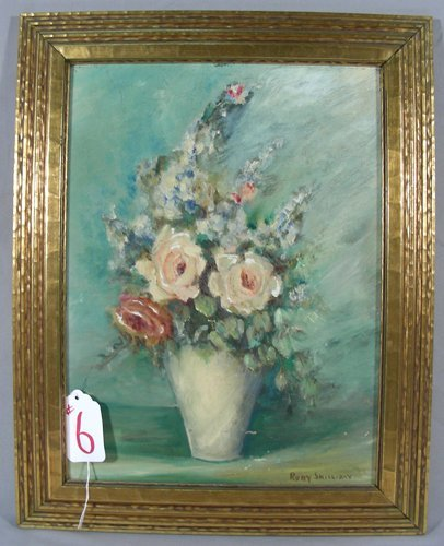 "ORIGINAL OIL ON BOARD ""FLORAL STILL LIFE"""