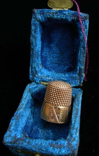 ANTIQUE 14K ROSE GOLD THIMBLE