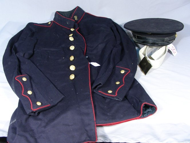 WWII COAT, HAT AND BELT