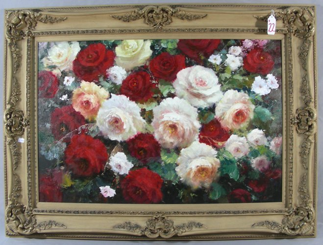 "ORIGINAL OIL ON CANVAS ""FLOWERS"""