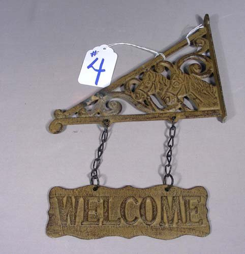 """CAST IRON """"WELCOME"""" SIGN"""