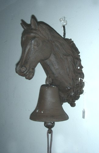HEAVY CAST IRON HORSE BELL