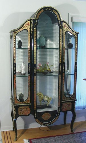 SPECTACULAR FRENCH BOULLE DISPLAY CABINET