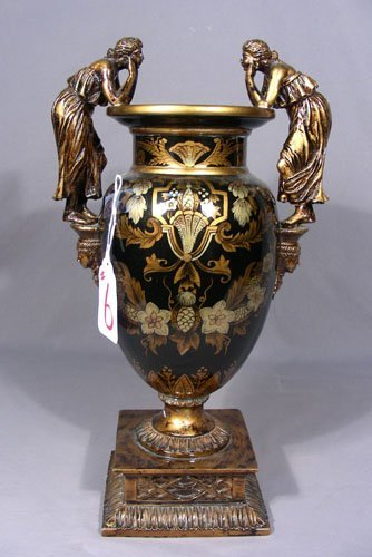 HAND PAINTED COMPOSITION URN