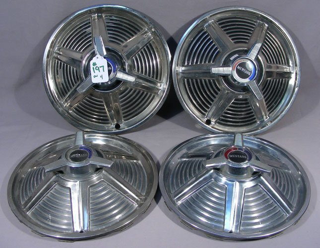 FOUR 1965 MUSTANG SPINNER HUBCAPS