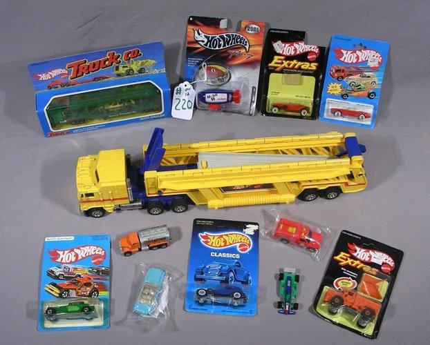 BOX LOT OF 12 MISC. HOT WHEEL CARS & TRUCKS