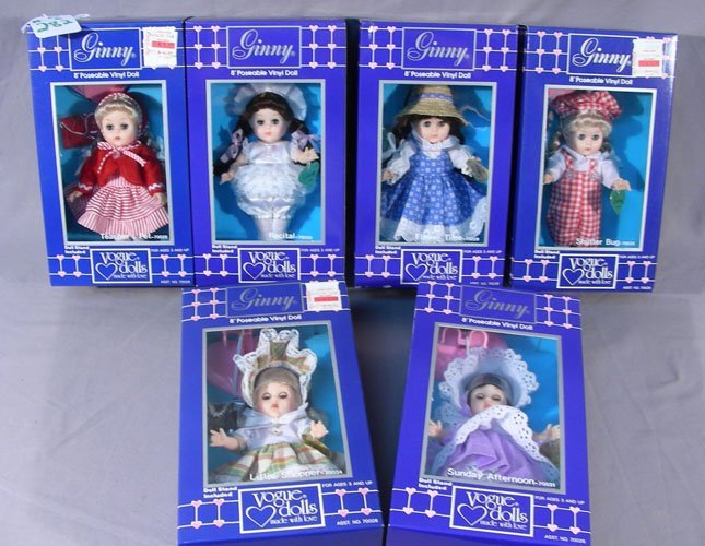 """GROUP OF SIX VOGUE """"GINNY"""" DOLLS"""