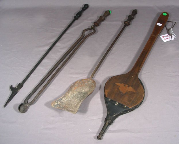 ANTIQUE FOUR PIECE FIRETOOL SET