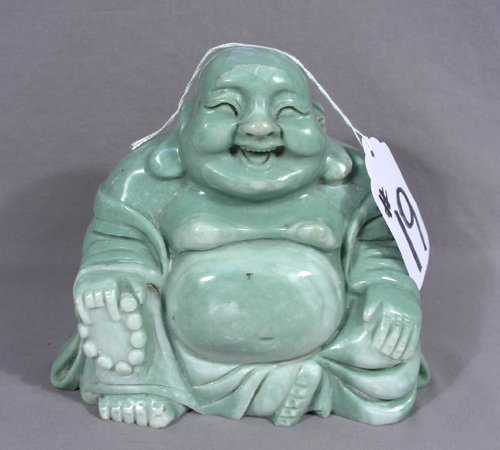 CHINESE HAND CARVED JADE BUDDAH