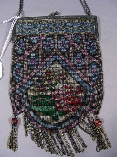 ANTIQUE FRENCH BEADED PURSE