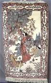 PERSIAN HAND KNOTTED PICTORIAL AREA RUG