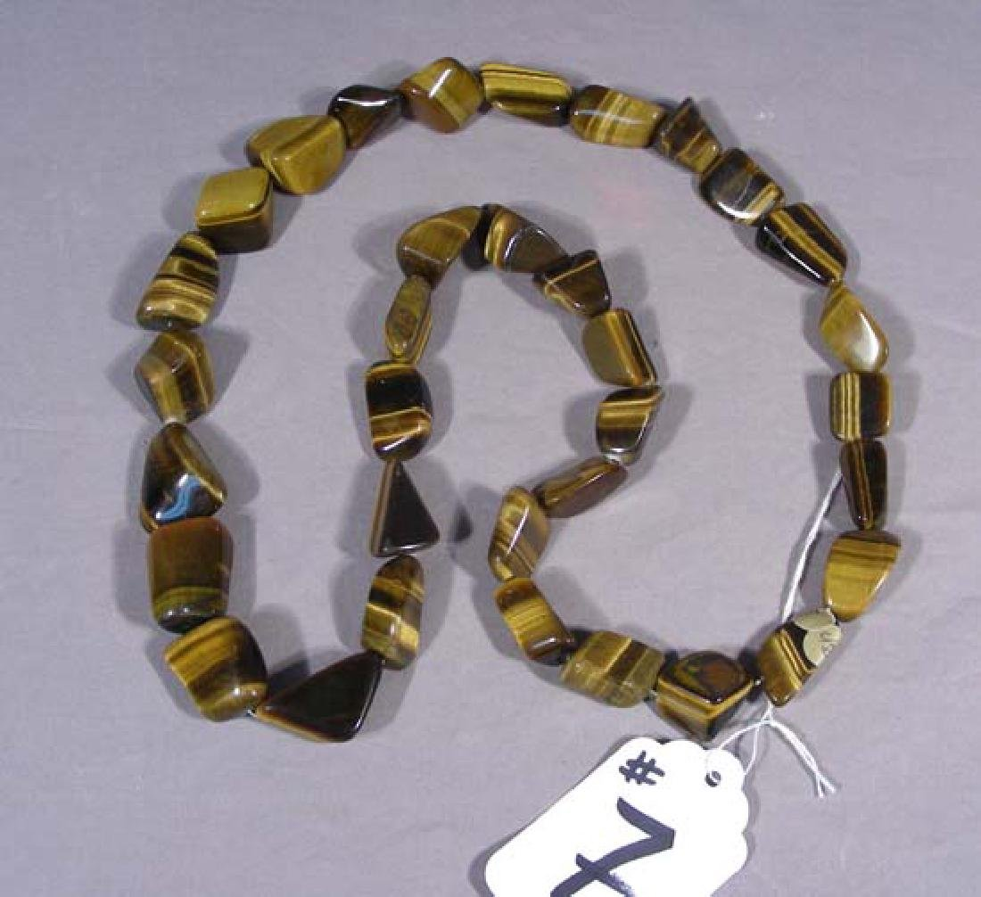 LARGE TIGER EYE NECKLACE
