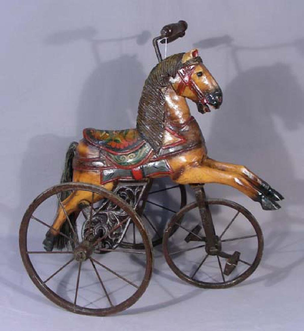 HUMOROUS HORSE MOTIF TOY TRICYCLE