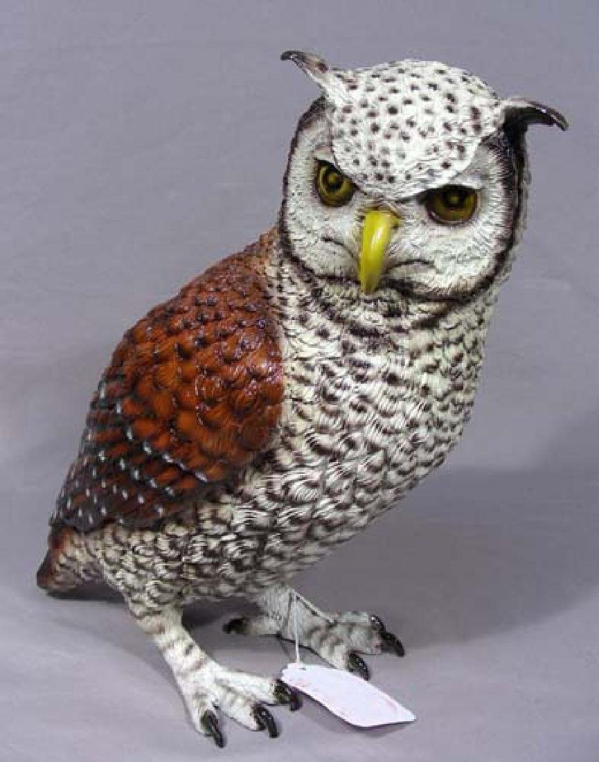 FINE BRONZE SCULPTURE OF OWL