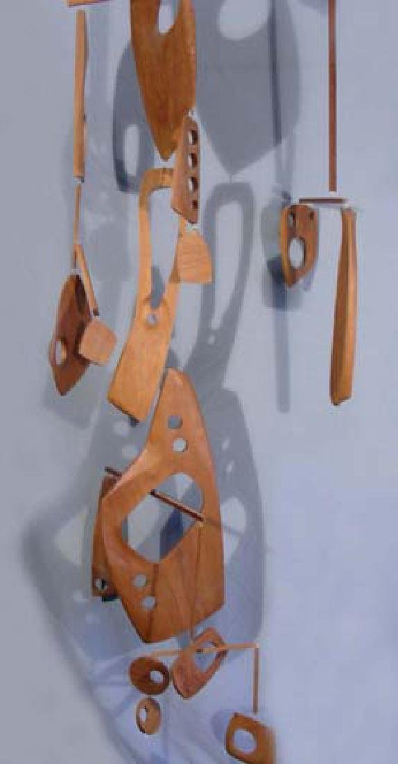 LARGE, RARE MID CENTURY MODERN CARVED WOODEN MOBILE
