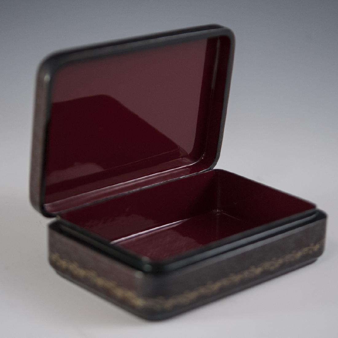 Russian Lacquered Papier Mache Erotic Box - 3