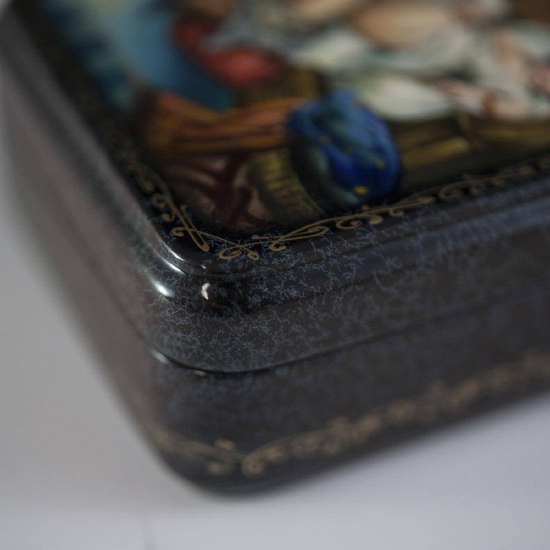 Russian Lacquered Papier Mache Erotic Box - 4